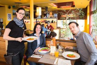 Ein Stück Toskana in Graz: In der Trattoria Siena unterhielten sich Beatrice Erker und Redakteur Christoph Hofer über das Verlagswesen.