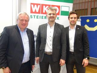 Dringenden Handlungsbedarf orteten (v.l.n.r.) RSTL Josef Majcan, Vortragender Harald Schenner und WKO Referent Lukas Leinich, die in der WKO Regionalstelle Südsteiermark über ein brennendes Thema für alle Unternehmen und Unternehmer informierten.