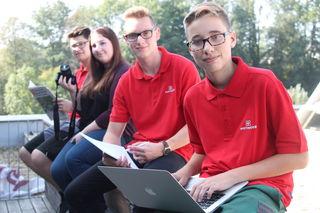 Die LehrlingsRedakteure Oliver, Michaela, Kevin und Jan verstärkten vergangenes Jahr die Redaktion in Grieskirchen.