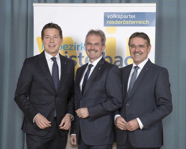 Kurt Hackl, Karl Wilfing und Manfred Schulz.