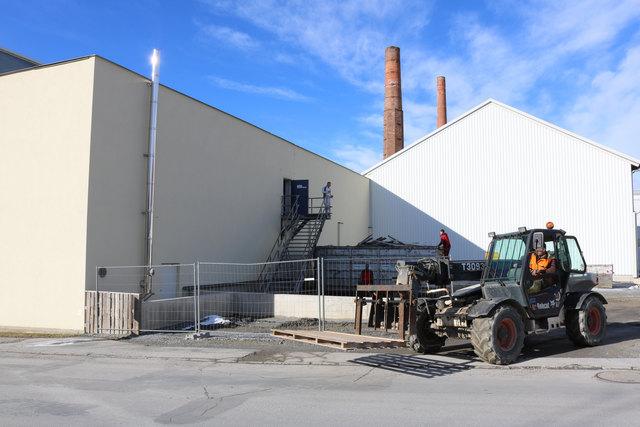 Am Werkgelände in Bärnbach fahren derzeit die Baumaschinen.