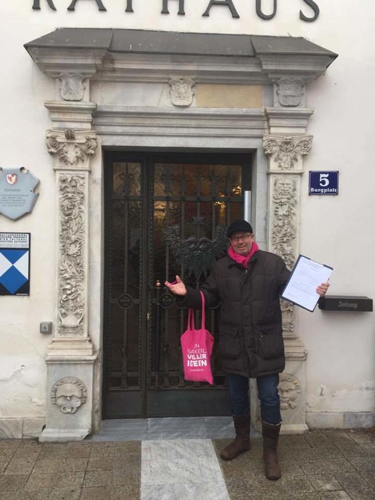 Hermann Bärntatz darf heute nicht mehr ins Rathaus