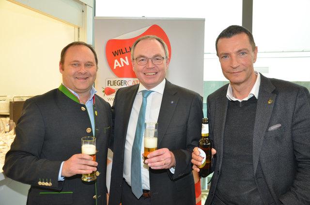 Bürgermeister Thomas Ram aus Fischamend, LH-Stellvertreter Stephan Pernkopf, Bürgermeister Harald Hahn  aus Zillingdorf