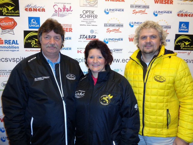 Obmann Ludwig Zauchner, Nachwuchskoordinatorin Manuela Simonis und Präsident Wolfgang Lindner