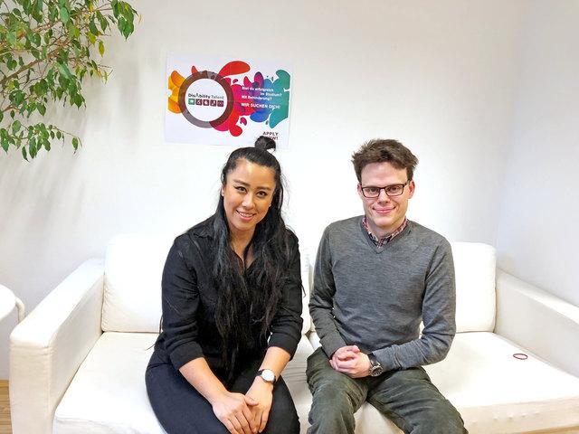 """Alice Hu und Daniel Schörghofer arbeiten bei """"myAbility"""" in Margareten."""