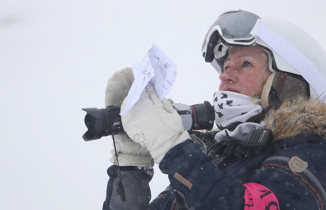 Renate Götschl ist als Expertin im Einsatz. Foto: GEPA pictures/Pranter