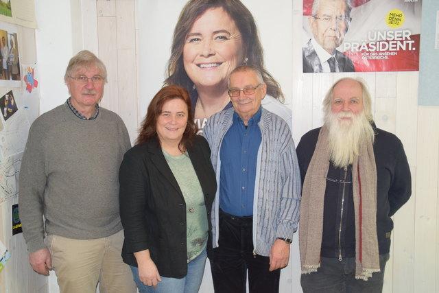 Hans Berger, Silvia Moser, Gerhard Stanik und Bernhard Schmid (v.l.) nach der Pressekonferenz.