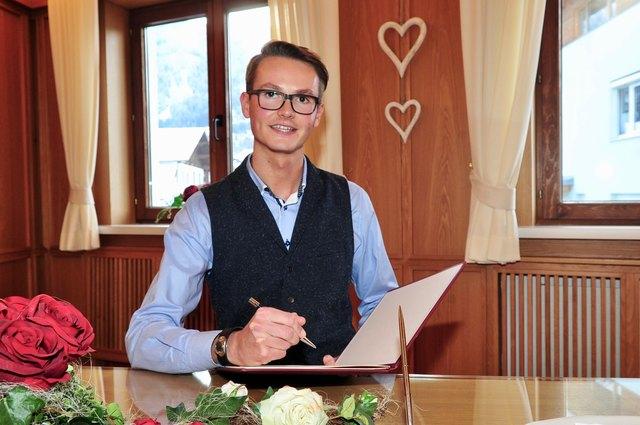 Michael Happ aus Axams ist seit Beginn des neuen Jahres als Standesbeamter tätig.