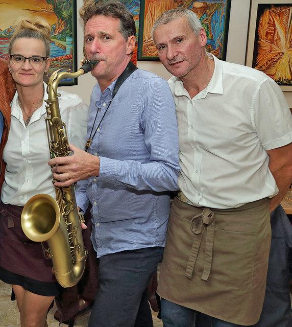 Sylke und Ludwig Schneider mit Live Sax Fred