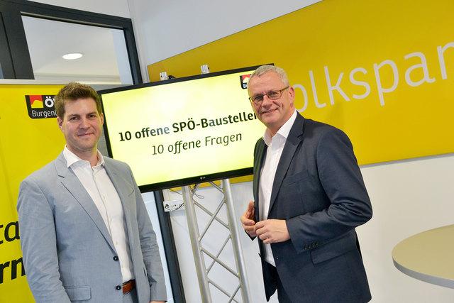 Zehn Baustellen habe laut Christoph Wolf und Thomas Steiner die rot-blaue Landesregierung in den letzten zweieinhalb Jahren verursacht.