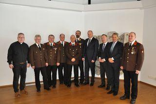 v.links nach rechts : Martin Sumec,Sebastian Hüpfel,Michael Steinacher,Wolfgang Döller; Patrick Apfelthaler,Marc Maierhofer; Hannes Döller, Michael Sillar, Hans Ledolter und Max Heinfellner;