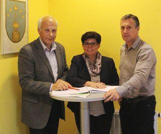 Bgm.Bernd Hermann und AL Thomas Lagger erörterten gemeinsam mit LAbg. Mag. Bernadette Kerschler die Vorhaben für 2018