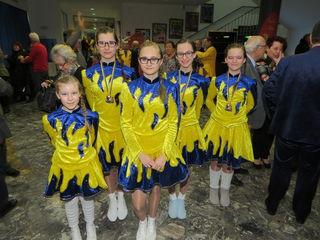 Die Garde Mädchen trainierten seit April für ihren Auftritt.