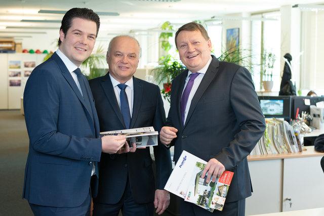 Die neue ELK Geschäftsführung: DI Thomas Scheriau, Gerhard Schuller und Ewald Zadrazil (v.l.n.r.).