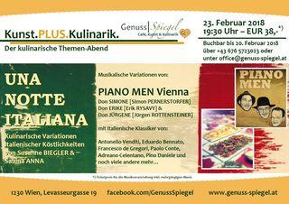 UNA NOTTE ITALIANA - mit PIANO MEN Vienna (Live)