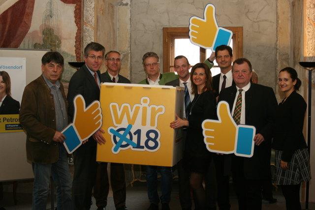 Johann Weinknecht, Martin Schuster, Johann Tröber, Martin Kohoutek, Thomas Samer, Birgit Petross, Hannes Koza, Erich Samer, Laila elHew (v.l.n.r.)