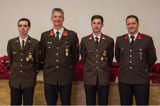 Der Vorstand der Feuerwehr Zirl.