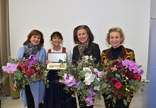 LR Beate Palfrader, Dir. Angelika Agerer, LR Patrizia Zoller-Frischauf und Bgm. Eva Posch.
