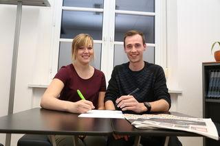 Stellen sich der Wahl am 2. Februar: Chiara Fuchs und Martin Gschweitl wollen zum dritten Mal den LJ-Bezirksvorstand vertreten.