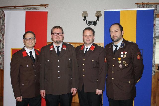 Das neue Kommando: Andreas Huber, Herbert David, Manuel Schwabl und Clemens Hillinger (v.l.n.r.)