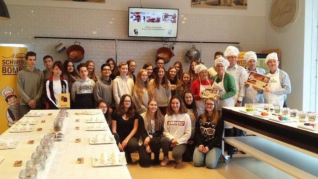 Süßer Workshop der HLP Schüler/innen bei der Firma Niemetz.