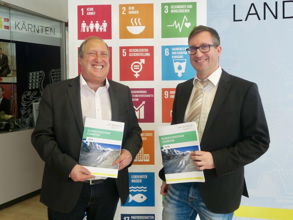 Rolf Holub mit Klimaschutzkoordinator Markus Kottek