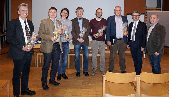 Thomas Geburek, Hannes Krehan, Christian Aufreiter, Bernhard Perny, Thomas Brandner, Georg Frank, Peter Mayer, Johann Zöscher (v.li.)