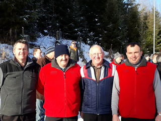 Heinz Strommer, Günther Rath, Erich Gödl und Rene Sauer vom ÖKB Wundschuh gewannen die ÖKB-Bezirksmeisterschaft im Eisstockschießen