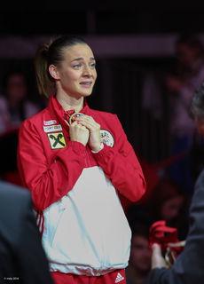Bei der Heim-WM in Linz holte Bettina Plank Bronze.