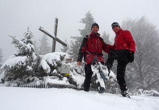 Hannes und ich auf dem Runzelberg