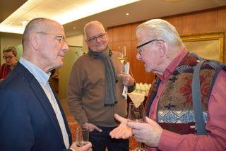 von links: Herbert Först, Volksbankdirektor i.R. Gerald Wenzel und Karl Helmreich