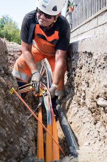 Der Breitband-Ausbau in Fischlham schreitet voran.