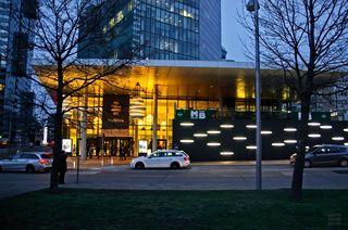 Eingangsbereich der Twin-Towers in der Wienerberg-City