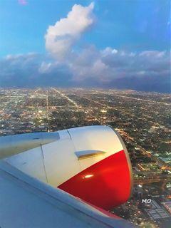 Landeanflug Miami Beach, Florida, USA