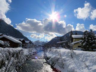 Wenn man gemeinsam den Bach runtergeht ;)                                                                        Wie wir heute in Flachau bei der Enns.