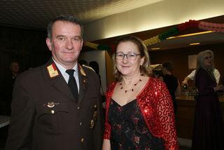 Feuerwehrkommandant Siegfried Stacherl und Gattin Christine.