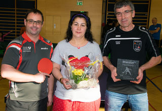 Organisator Christian Schützeneder, Siegerin Julia Steiner, Sieger Robert Seeböck