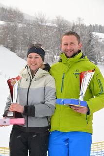 Laura Sagmeister und Hannes Bogensperger (v.l.) wurden wie Ortsmeister