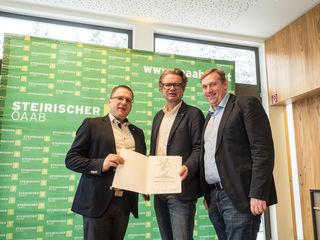 Neue Ideen: Wöginger, LR Drexler, KR Ruprecht (v. l.)