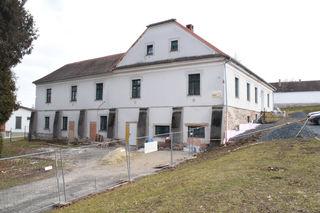 Die Sanierung des Vereinshauses ist in vollem Gange.