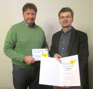 Bgm. Reinhold Steinmetz und Andreas Zbiral (NÖ.Regional - Mobilitätsmanagement)