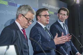 Pressekonferenz zur EUSALP-Präsidentschaft Tirols im Jahr 2018.