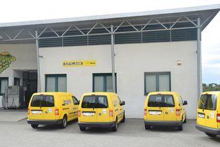 Außen gelb, innen grün: Die Post setzt bei ihrem Fuhrpark vermehrt auf elektrische Energie.