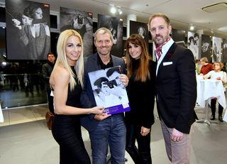 Bei BMW Heiligenstadt: Yvonne Rueff, Manfred Baumann, Nelly Baumann und Matthias Urrisk-Obertynski (v.l.).