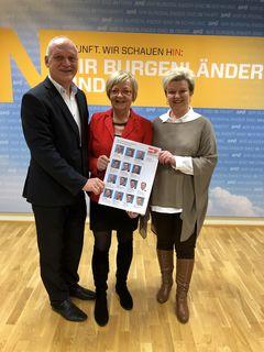 Wolfgang Sodl ist gemeinsam mit Edith Sack (rechts) neuer Stellvertreter von Klubobfrau Ingrid Salamon (Mitte).