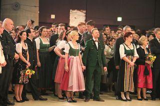 Christina und Willi Gabalier bei der Eröffnung in der Stadthalle mit den landwirtschaftlichen Fachschulen