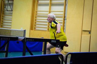 Am Foto: Helmut Pokorny in voller Action - doch auch er musste zwei Niederlagen einstecken.