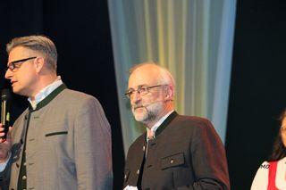 Moderator Dorian Steidl, Bauernbundball Graz, Messe