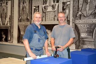 Werner Renzhofer und Alfred Bahmer arbeiten seit Anfang Jänner an der Ausstellung