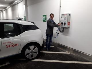 Neustadts E-Mobilitätsverantwortlicher Franz Hatvan.